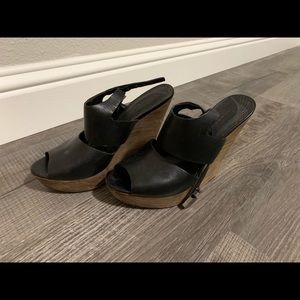 Trouve Black Wedges - worn once